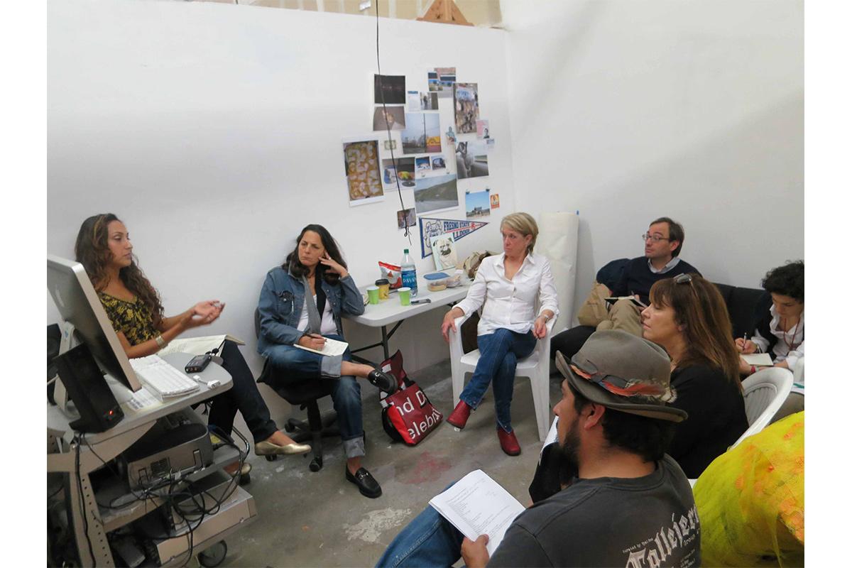 Group studio visit with Otis College of Art and Design Graduate Public Practice Program, 2012