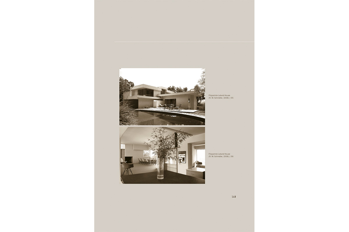 Page for historic Fitzpatrick-Leland House (1936) by R.M. Schindler as part of Urban Future Manifestos, culminating publication of the MAK Center's Urban Future Initiative, 2010
