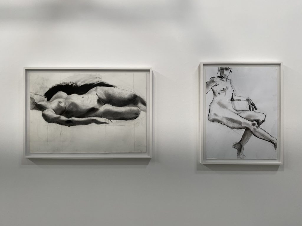 Pamela Simon Jensen, Untitled 1 and 2, 2011. Charcoal and pencil on paper. Courtesy of the artist.