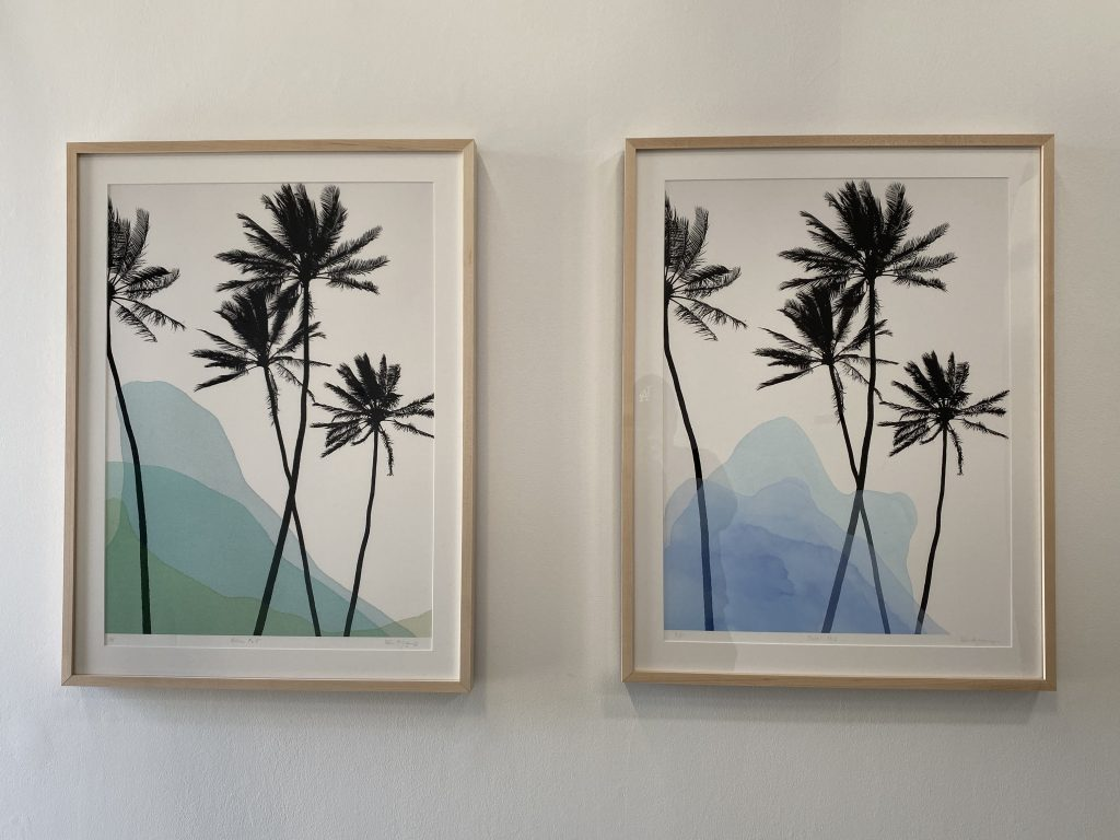 Rebecca Youssef, Palms No. 2, and Palms No. 5 2020. Mixed Media. Courtesy of the artist.