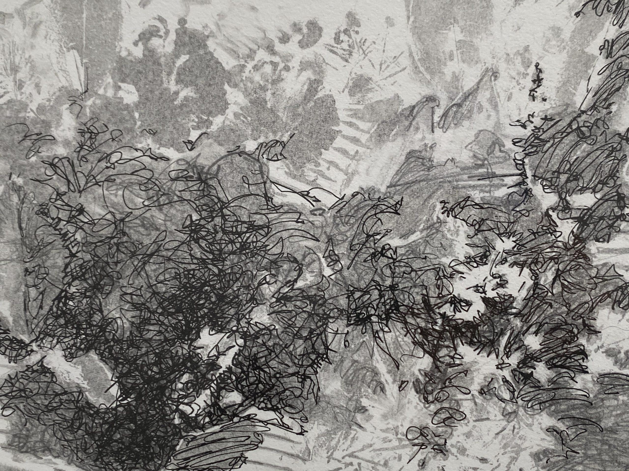 Yvette Gellis, Sacred Leaves, 2020. Mixed Media On Paper. Courtesy Of The Artist.