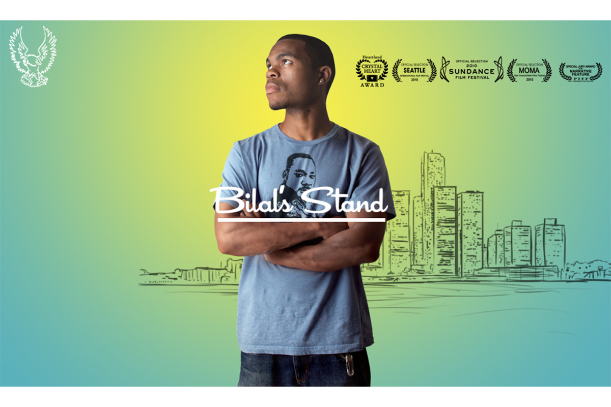 """Poster for """"Bilal's Stand"""", 2010. Film written and directed by Sultan Sharrief. 1 h 39 min."""