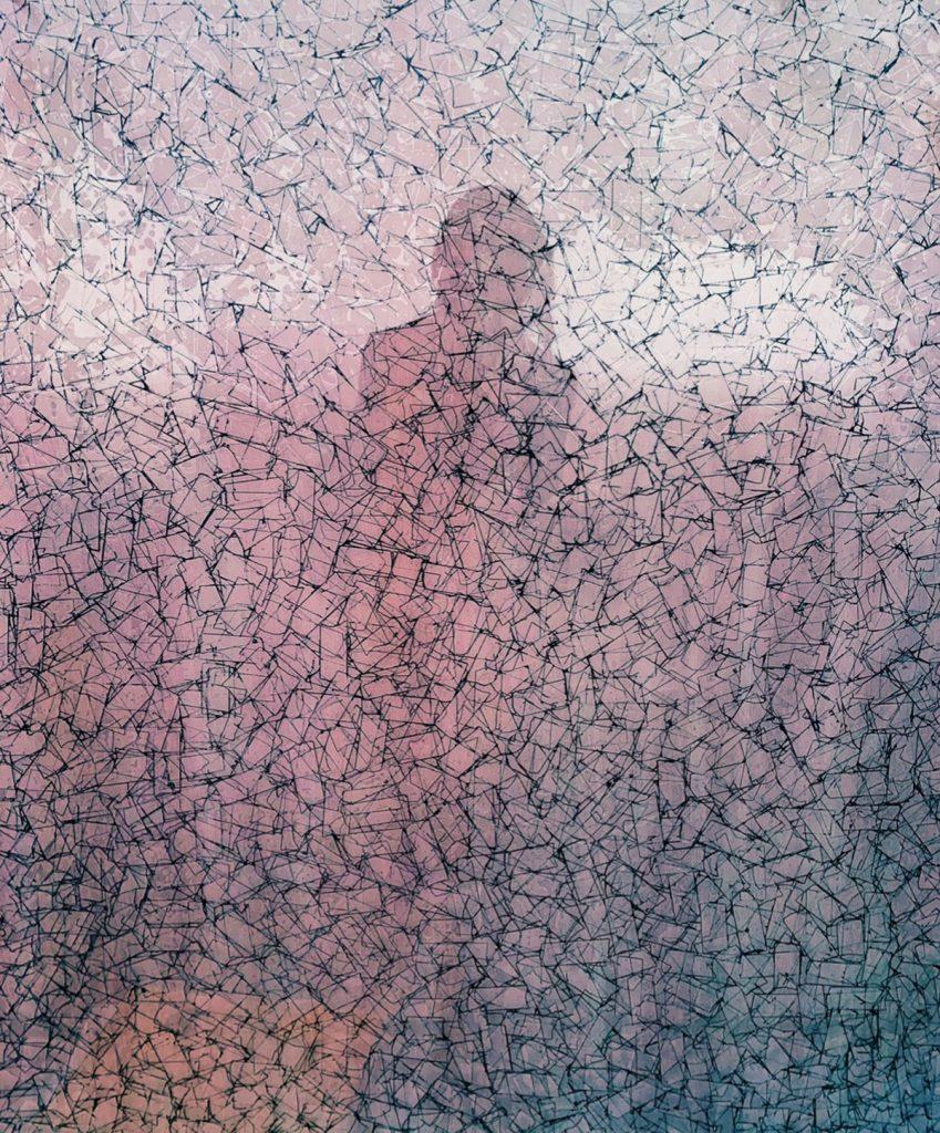 "Deborah Lynn Irmas, Ininterrompue (self portrait), 2019. Inkjet print on Japanese paper. 8"" x 10"". Courtesy of the artist."