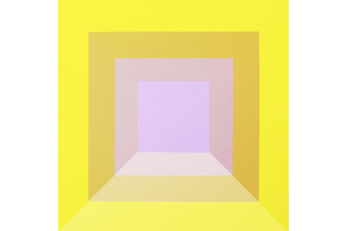 Susie McKay Krieser, Sunrise, 2017. 24'' x 24''. Acrylic on canvas. Courtesy of the artist.