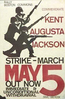 Student Mobilization Committee, Strike – March, 1970. Silkscreen. Boston, MA.