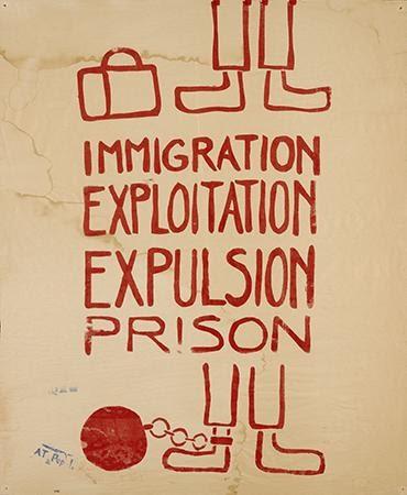 Atelier Populaire, Immigration Exploitation Expulsion Prison, 1968. Silkscreen. Paris, France.