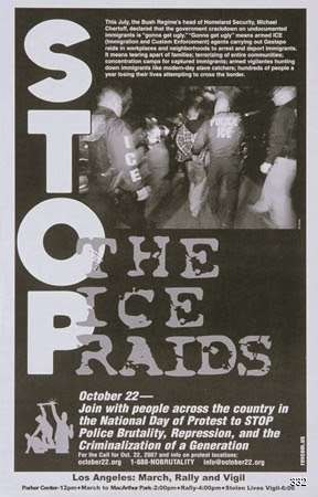 Revolutionary Communist Party of USA, Stop the Ice Raids, 2007. Offset. United States.