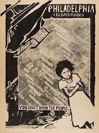 Artist Unknown, You don't bomb the people, circa 1985. Offset. United States.