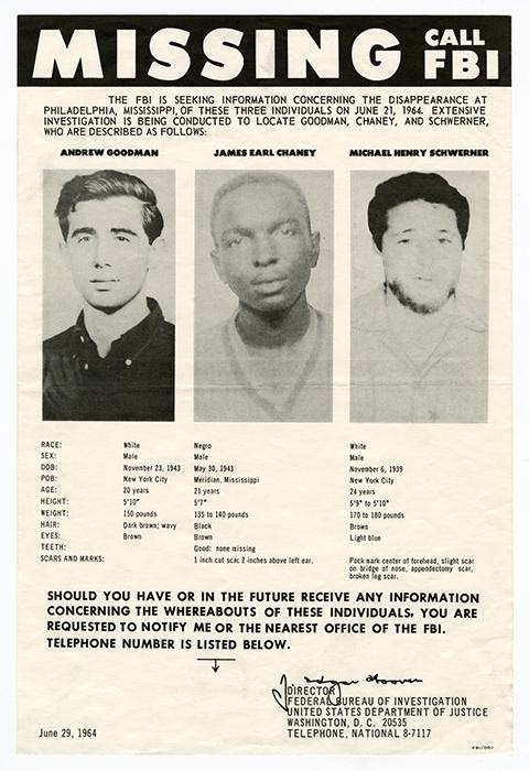 Federal Bureau of Investigation, Missing—Call FBI, 1964. Offset. Washington, D.C.