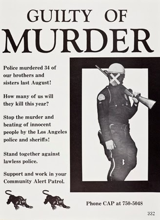Charles Brittin and Community Alert Patrol, Guilty of Murder, 1966. Offset. Los Angeles, CA.