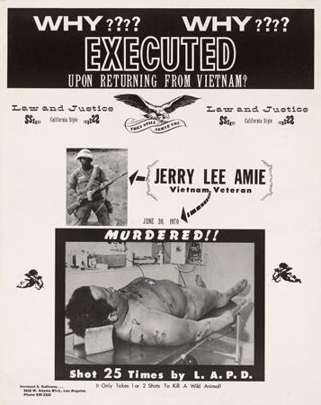 Vermont S. Galloway and Westside Press, Why Executed Upon Returning from Vietnam?, 1970-1971. Offset. Los Angeles, CA.