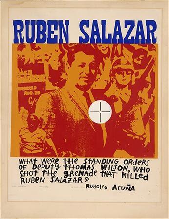 Los Cinco, Rubén Salazar, 1974. Silkscreen. Los Angeles, CA.