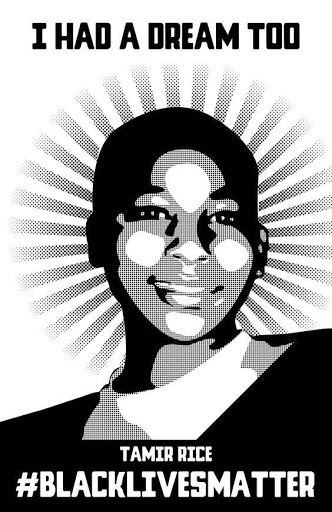 Elijah Childs and Black Lives Matter, Tamir Rice, 2015. Digital Print. Boston, MA.