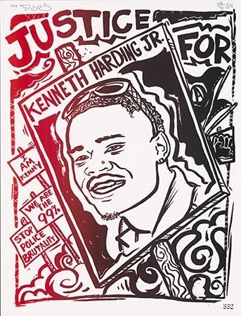 Jon-Paul Bail, Justice for Kenneth Harding Jr., 2012. Offset. Oakland, CA.
