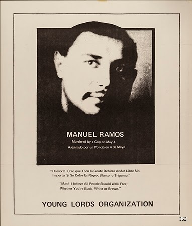 Young Lords Party, Manuel Ramos Murdered By A Cop, 1969. Photocopy. Chicago, IL