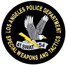Artist Unknown, LA SWAT Logo, Mid to late 1970s. Embroidered Badge. Los Angeles, CA.