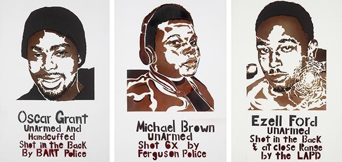 Vazta, Michael Brown, 2014. Stencil. Los Angeles, CA.