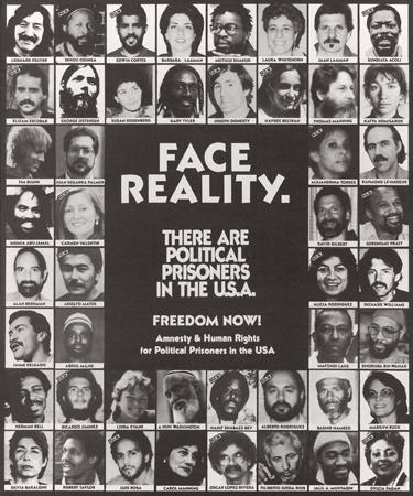 Campaign for Amnesty & Human Rights for Political Prisoners in the U.S.A., Face Reality, 1990. Offset. Chicago, IL.
