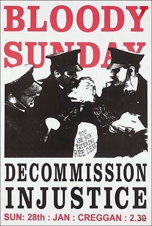 Artist Unknown, Bloody Sunday, Circa, 1996. Silkscreen. Derry, Northern Ireland, United Kingdom.