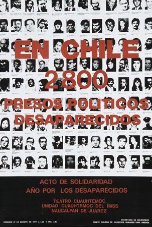 Comite Chileno de Derechos Humanos para America, En Chile 2800 Presos Politicos Desaparecidos / 2800 Disappeared Political Prisoners in Chile, 1977. Offset. Mexico.