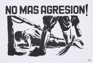 Artist Unknown, No Mas Agresion! / No More Aggression!, 1968. Offset. Mexico. Poster made to protest the 1968 massacre in the Plaza de Tlateloco.
