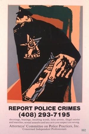Doug Minkler, Report Police Crimes, 1982. Silkscreen. CA, United States.