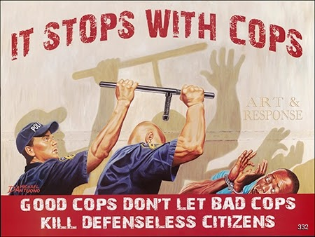 Michael D' Antuono, It Stops With Cops, Circa 2015. Offset. New York.