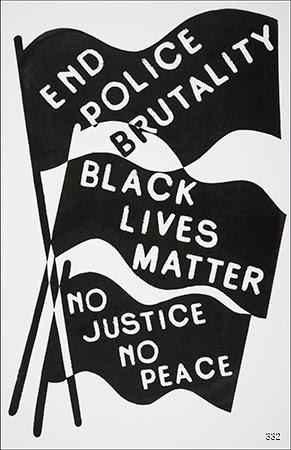 Alicia Nauta, End Police Brutality, 2015. Silkscreen. Ontario, Canada.