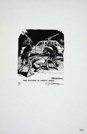 Paul Conrad, One Picture Is Worth Zero, 1992. Offset. Los Angeles, CA.