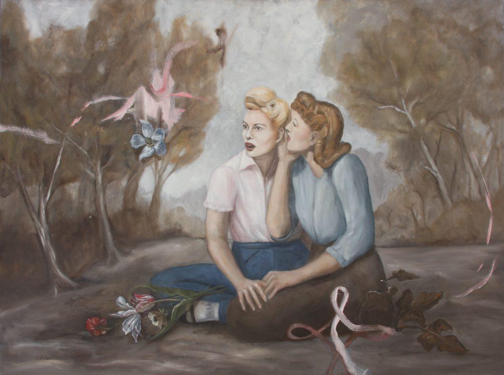 Alexandra Dillon, The Secret, 2010. Oil on canvas. 30 x 40 inches. Courtesy of the artist.