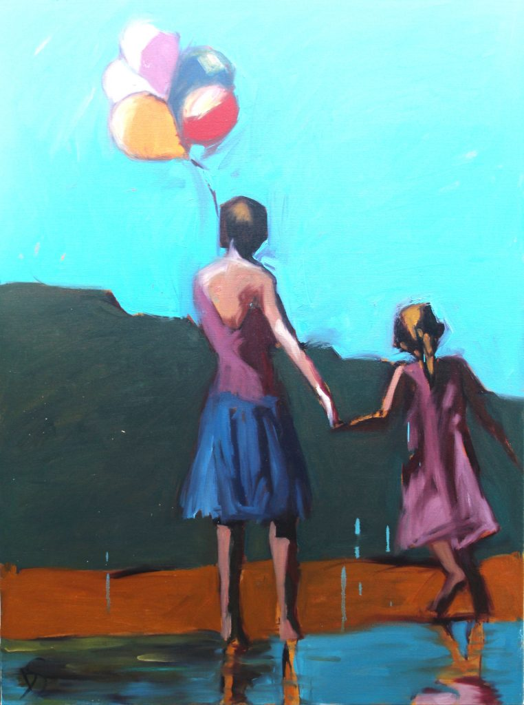 Daniela Schweitzer, Looking Ahead. Oil on Canvas. 40 x 30 inches. Courtesy of the artist.