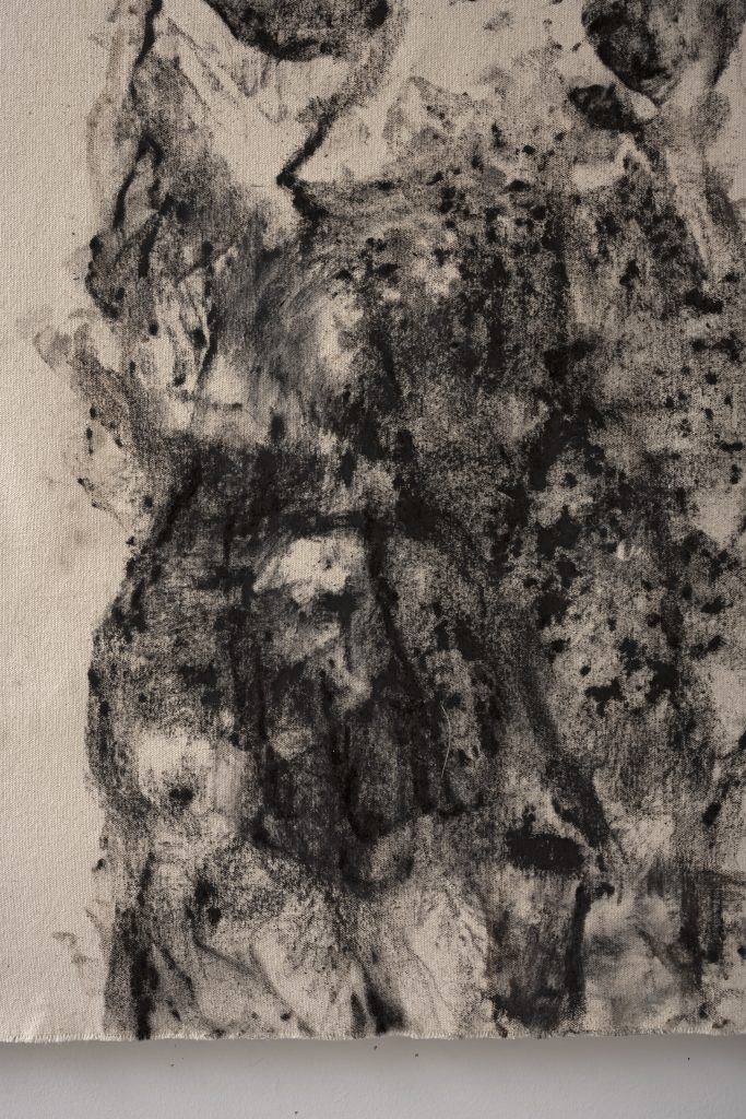 Joan Wulf, Echoes (Pinus Canariensis), 2020. (Detail) Handmade charcoal on canvas. Photo by Gene Ogami. Courtesy of the artist.