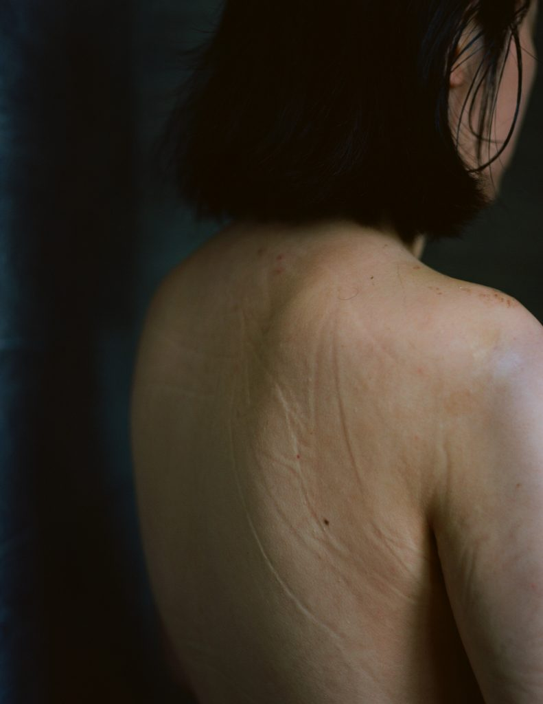 Siru Wen, Shower me, 2020. Chromogenic print. 34 3/4 x 26 7/8 inches. Photo by the artist. Courtesy of the artist.
