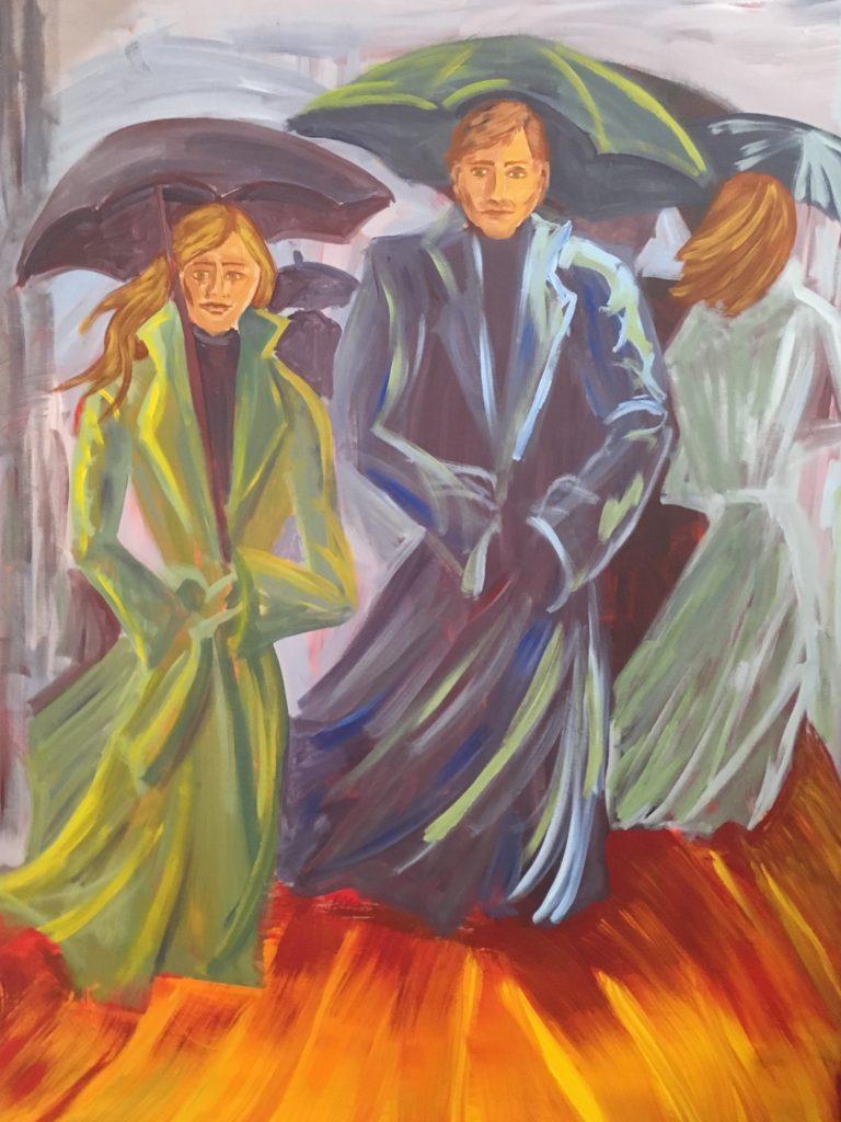 Julia Michelle Dawson, Windy City, 2008. Acrylic on Canvas. 48 x 60 inches.