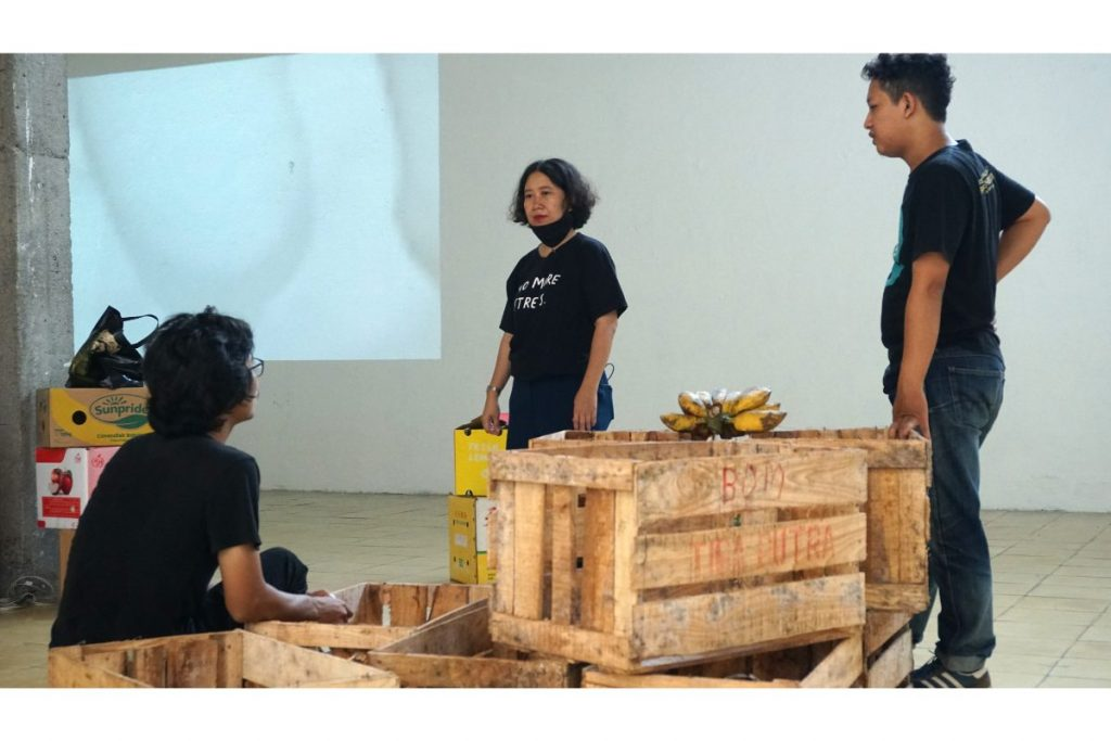 Elia Nurvista Installing At Cemeti Institute For Art And Society