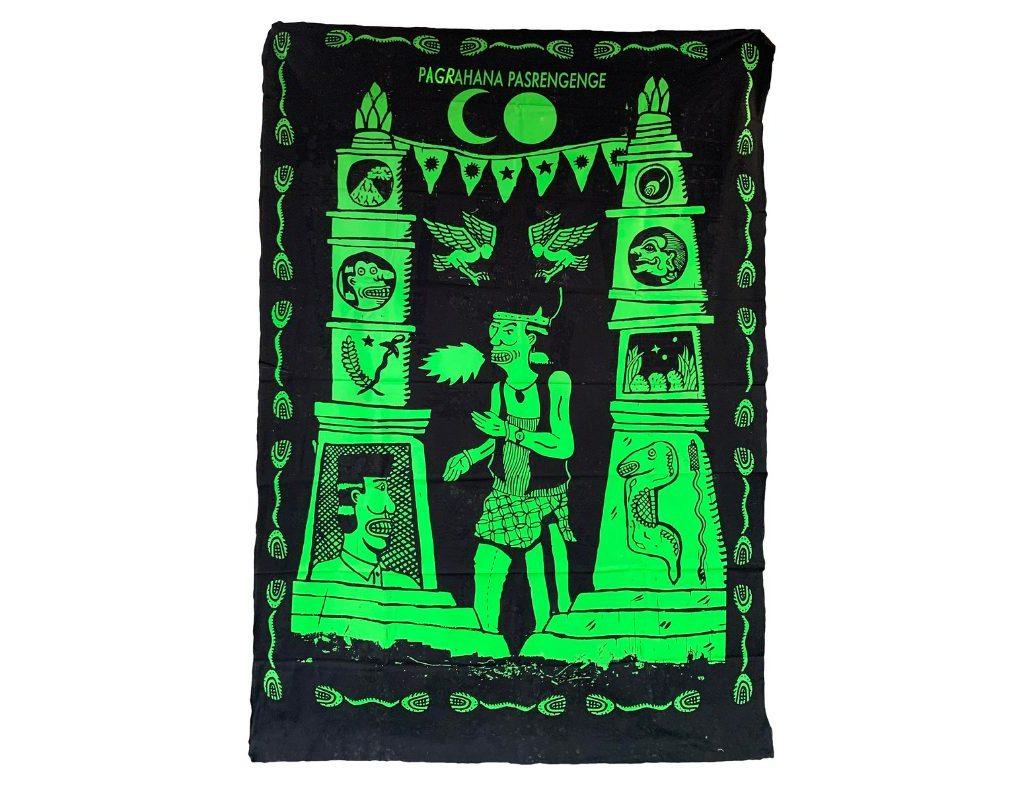 Gegerboyo, Gapura Buwana 4, 2019. 150 X 200 Cm. Silkscreen On Fabric.