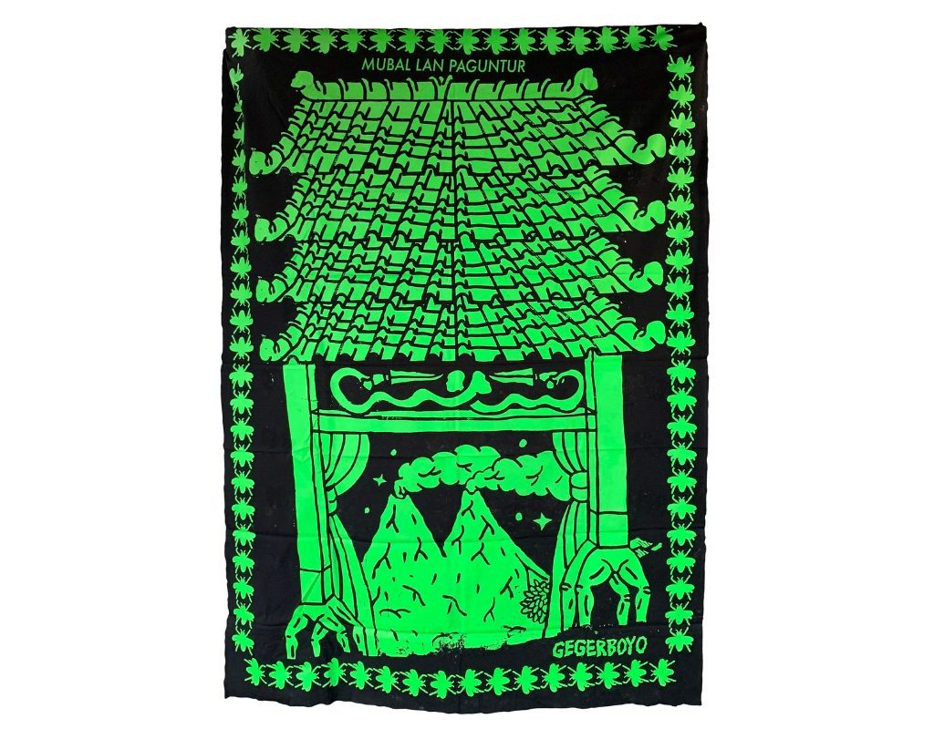 Gegerboyo, Gapura Buwana 5, 2019. 150 X 200 Cm. Silkscreen On Fabric.