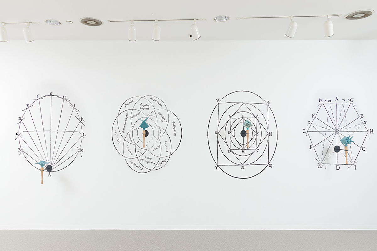 Elana Mann, (installation view) Instruments of Accountability, 2018. Pitzer College Art Galleries, Claremont, CA. Photo by Michael Underwood. Courtesy of the artist.
