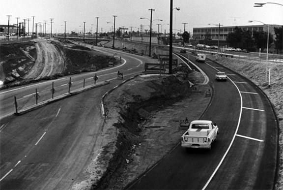 Santa Monica Freeway construction 1965