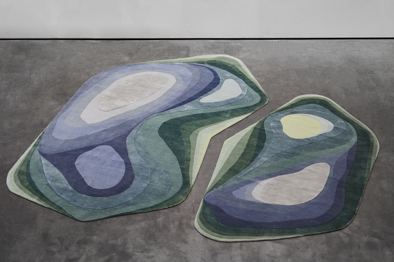 Strata Rug Collection designed by Roula Salmon - a collaboration between Iwan Maktabi and House of Today.
