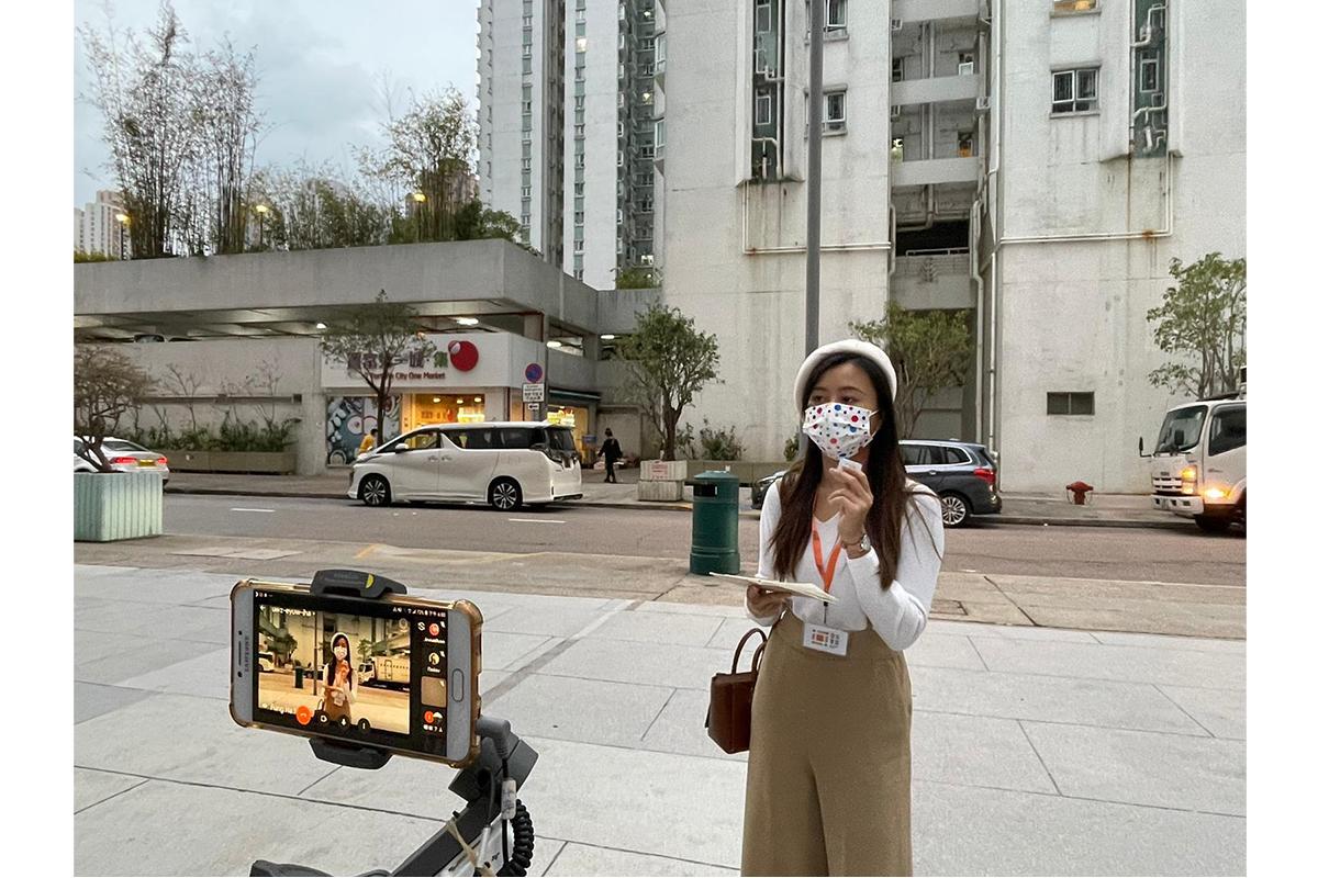 Joey Hauying Tong, Kaifong Tour: Community Tour Programme, 2021. Live Community Tour Broadcast In Shatin, New Territories, Hong Kong. Courtesy Of Kaifong Tour, Hong Kong.