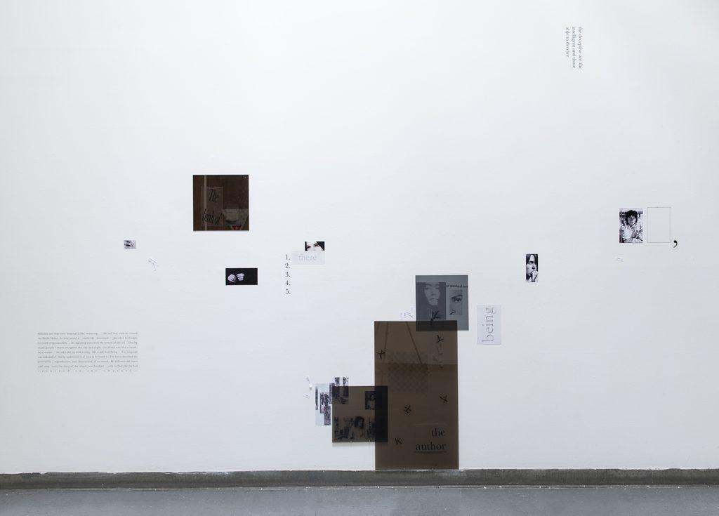 Jennifer Chia-ling Ho (何珈寧), Nest, 2021. Adhesive film, plexiglass, inkjet print, paper. 11.5 x 6 feet. Courtesy of the artist.