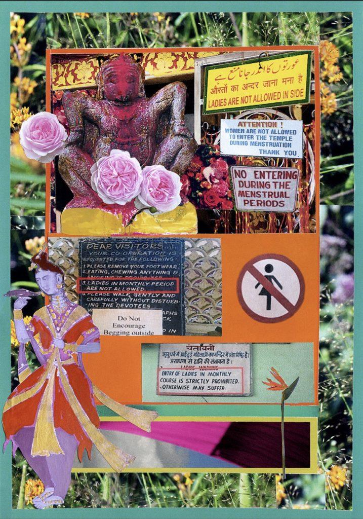 Ameeta Nanji, Goddess, Delhi Love Song series, 2017. Recycled Print Media Paper. 17 ¼ x 21 ¼ inches. Courtesy of the artist.