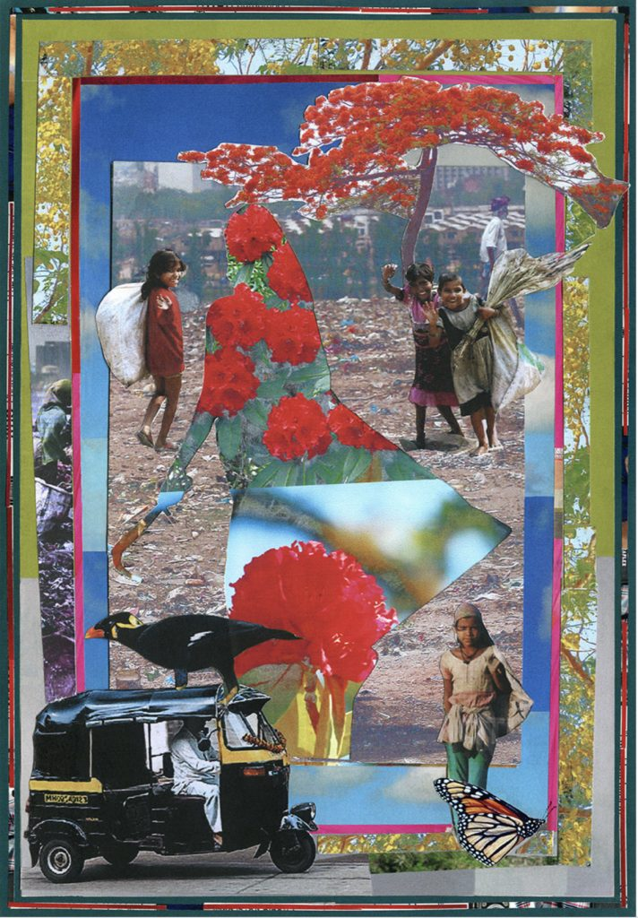 Ameeta Nanji, Unrecognised and Unpaid, Delhi Love Song series, 2017. Recycled Print Media Paper. 17 ¼ x 21 ¼ inches. Courtesy of the artist.