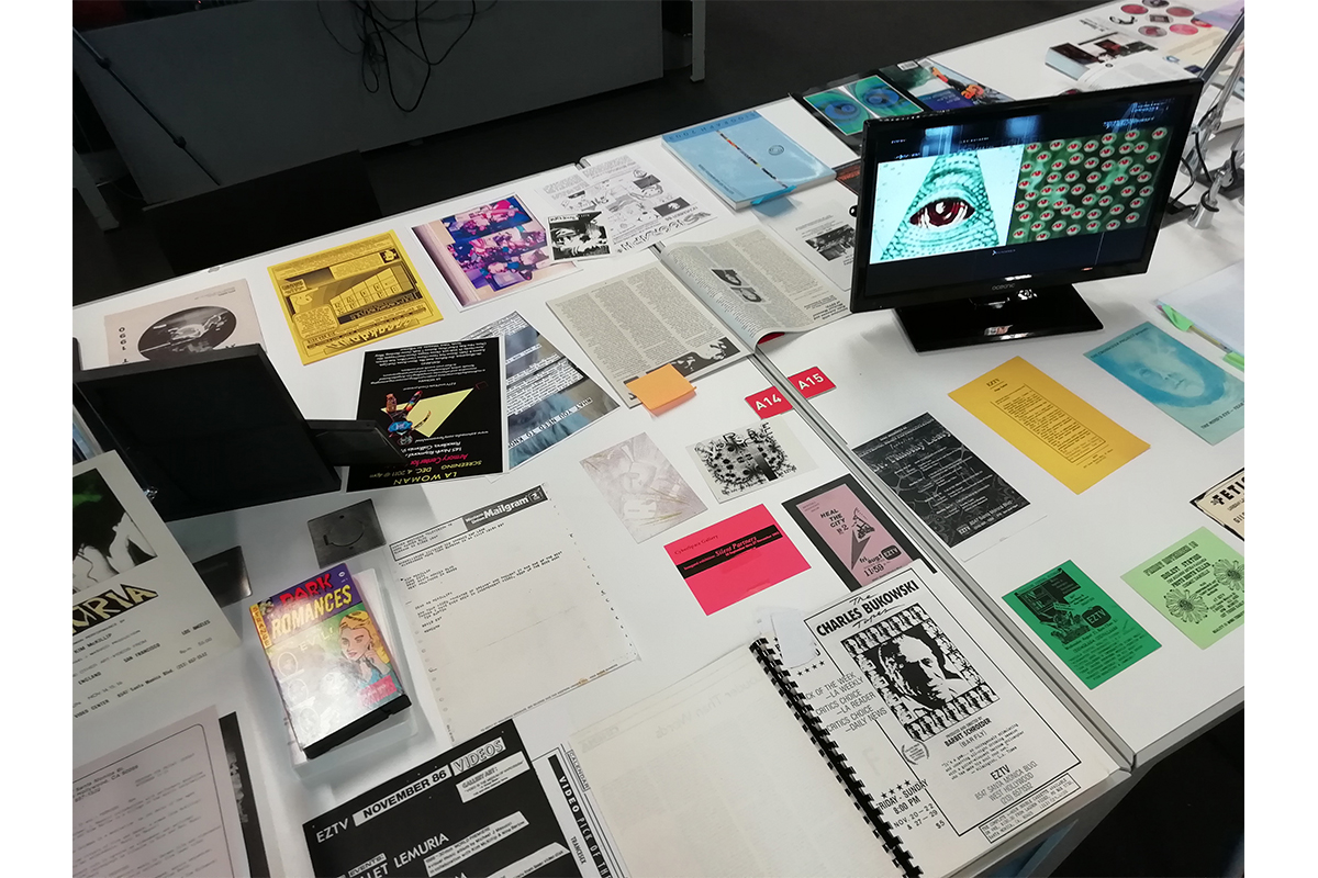 SeedyFilms #4, Presentation of the archives of EZTV from the collections of the ONE National Gay & Lesbian Archives and EZTV, preserved at the 18th Street Arts Center (Santa Monica, CA), with Kate Johnson and Michael Masucci, June 21st 2019, Bibliothèque Kandinsky, Centre Georges Pompidou, Paris, France.