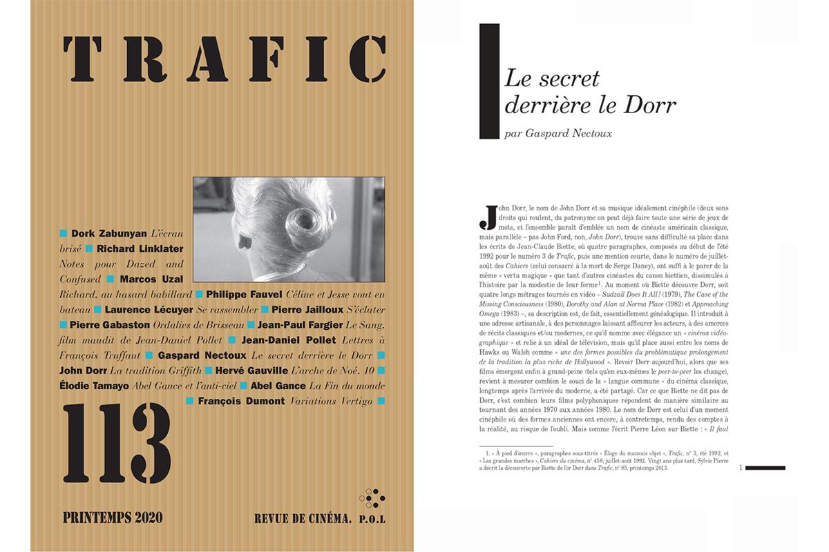 """Gaspard Nectoux, """"Le secret derrière le Dorr"""", Trafic, n° 113, Spring 2020. Courtesy of Éditions P.O.L."""