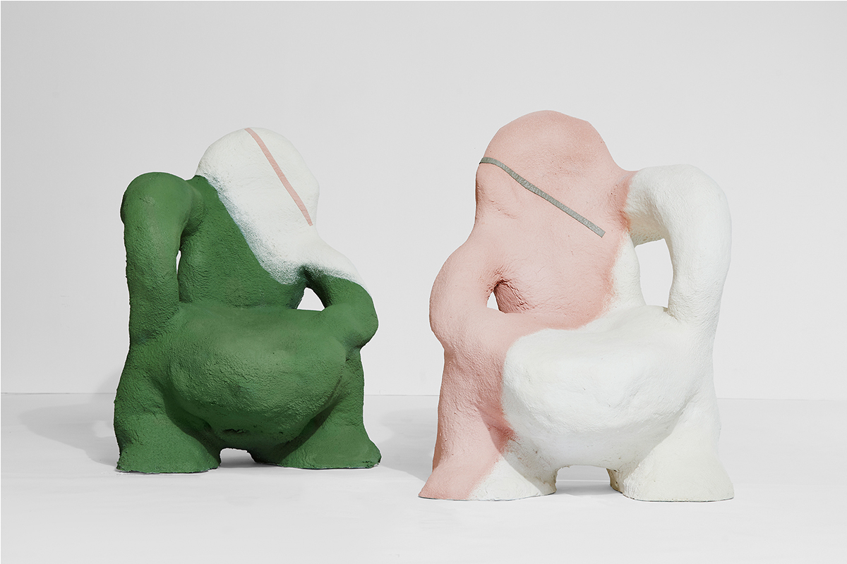 Mary-Lynn & Carlo Massoud, Chair-y, 2020. 90 X 100 X 120 Cm. Foam And Green Concrete. Courtesy Of House Of Today.