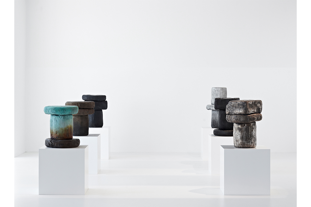 Mary-Lynn & Carlo Massoud, Autopsy Series, 2015. 40 cm x 40 cm x 46 cm. Bronze and ceramic. Photo by Hayden Phipps. Courtesy of Carwan Gallery.