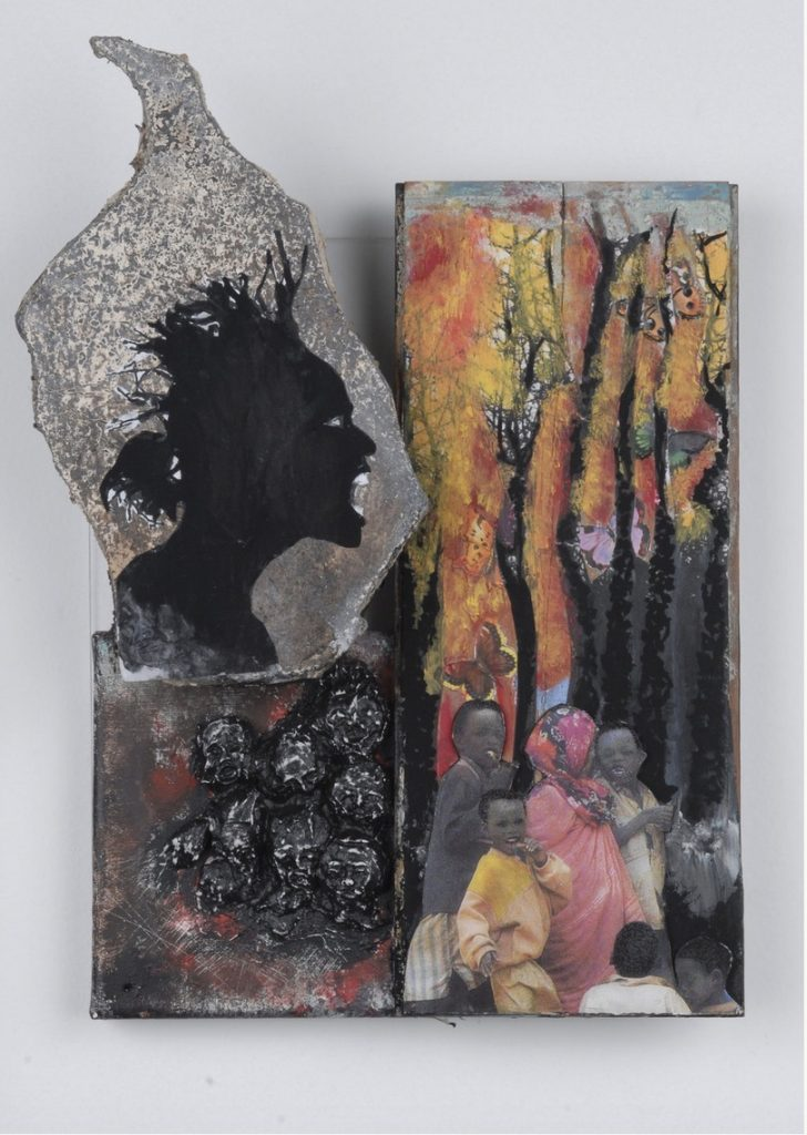 Yrneh Gabon, Butterfly on the Horizon, River DeNile series, 2008. Mixed media. 9 x 12 x 4 inches. Courtesy of the artist.