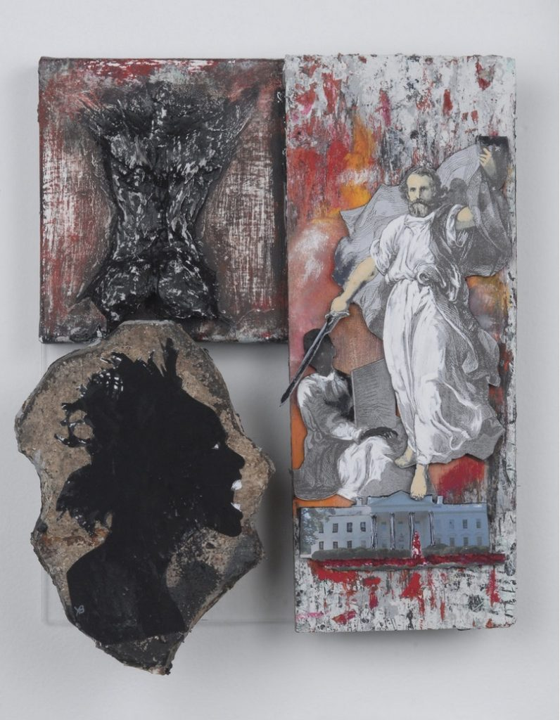 Yrneh Gabon, The White House, River DeNile series, 2008. Mixed media. 9 x 12 x 4 inches. Courtesy of the artist.
